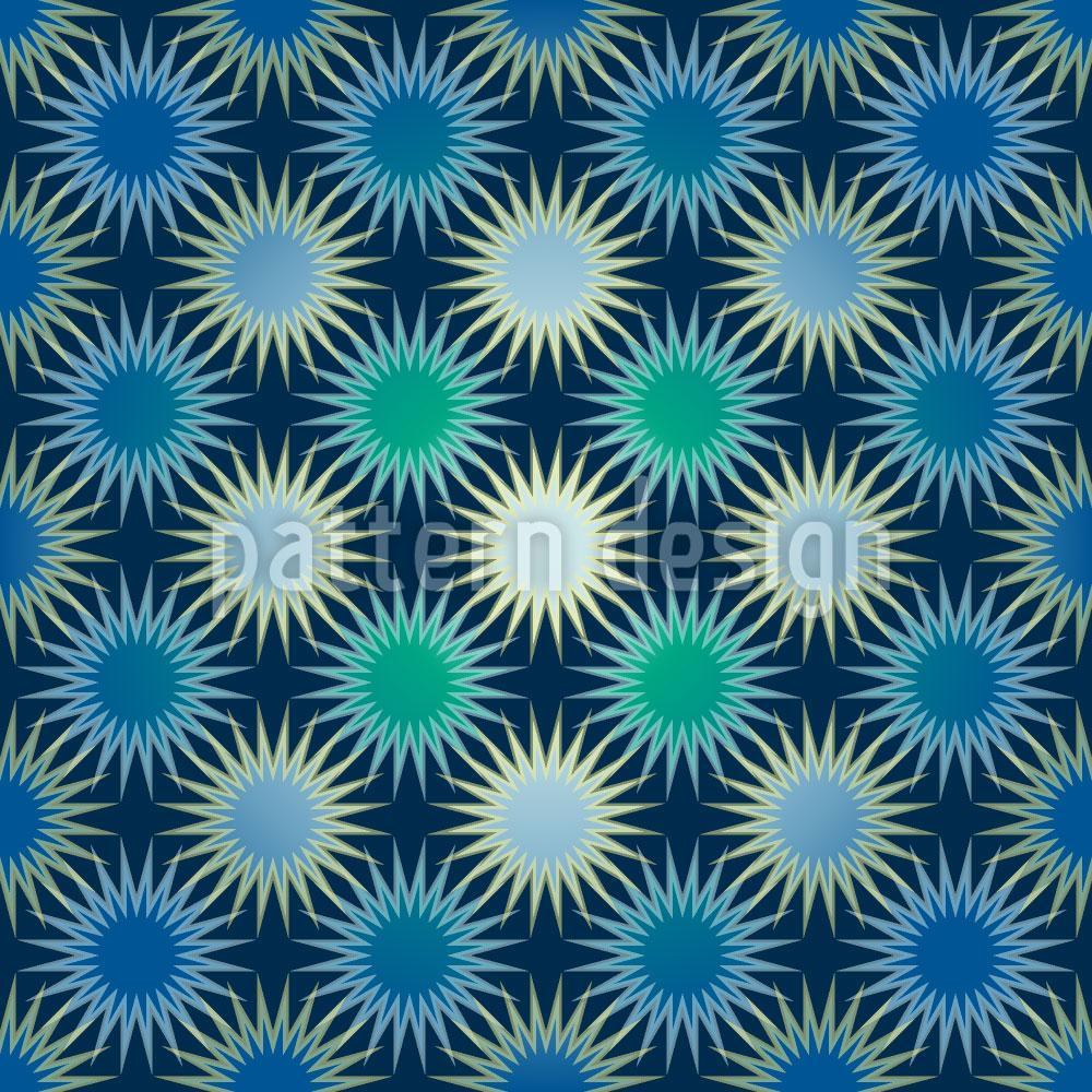 Designtapete Gefrorene Sonnen