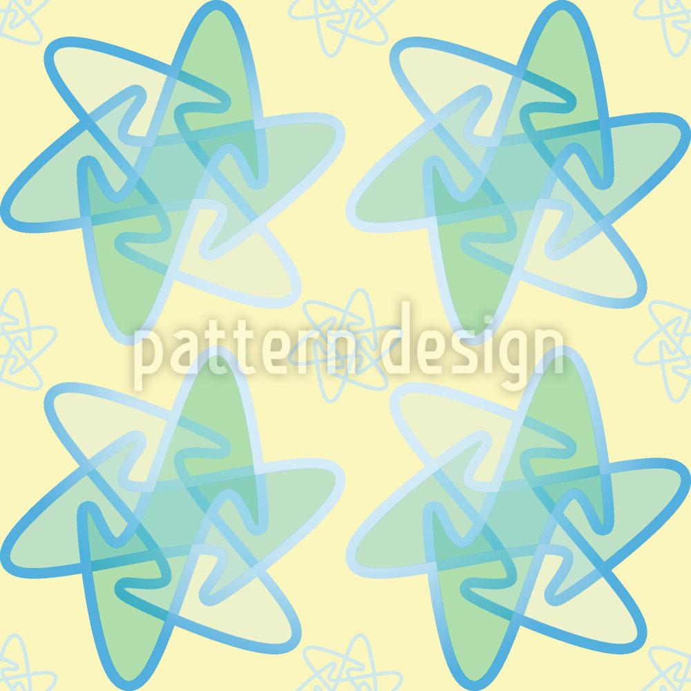 Designtapete Rounded Stars