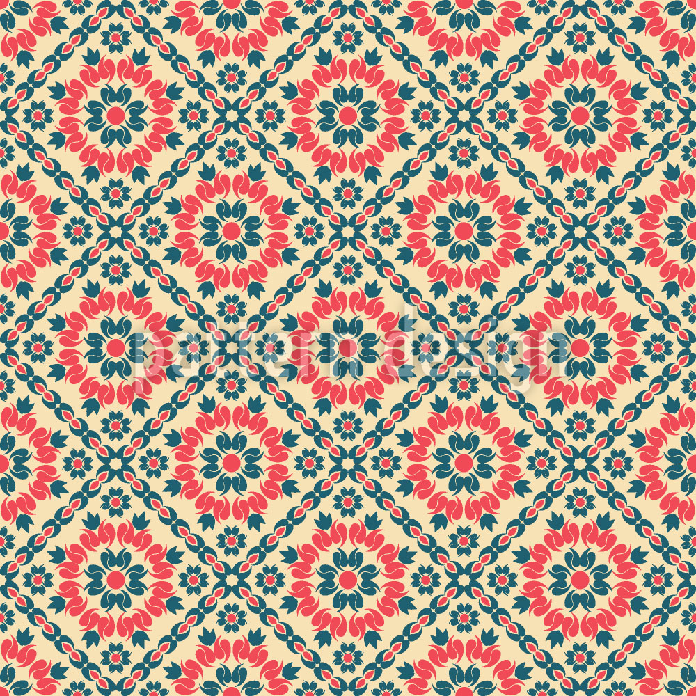 Designtapete Floralis Retro