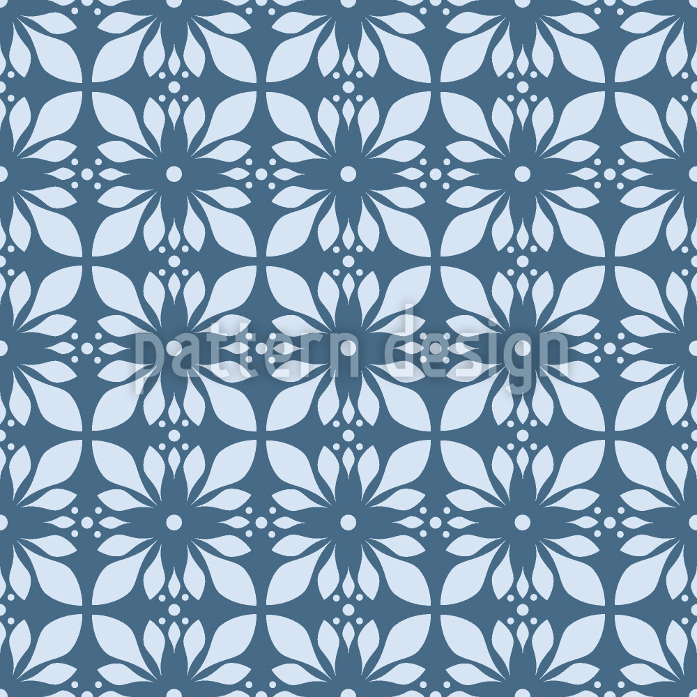 Designtapete Mystischer Blauer Lotus