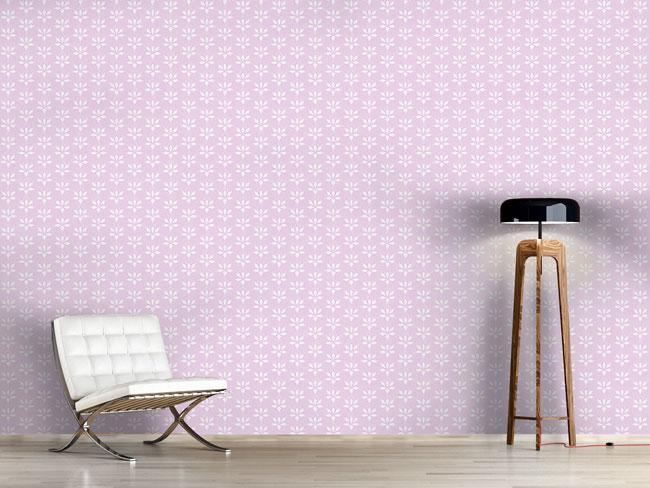 Designtapete Blossom Drops Lavender