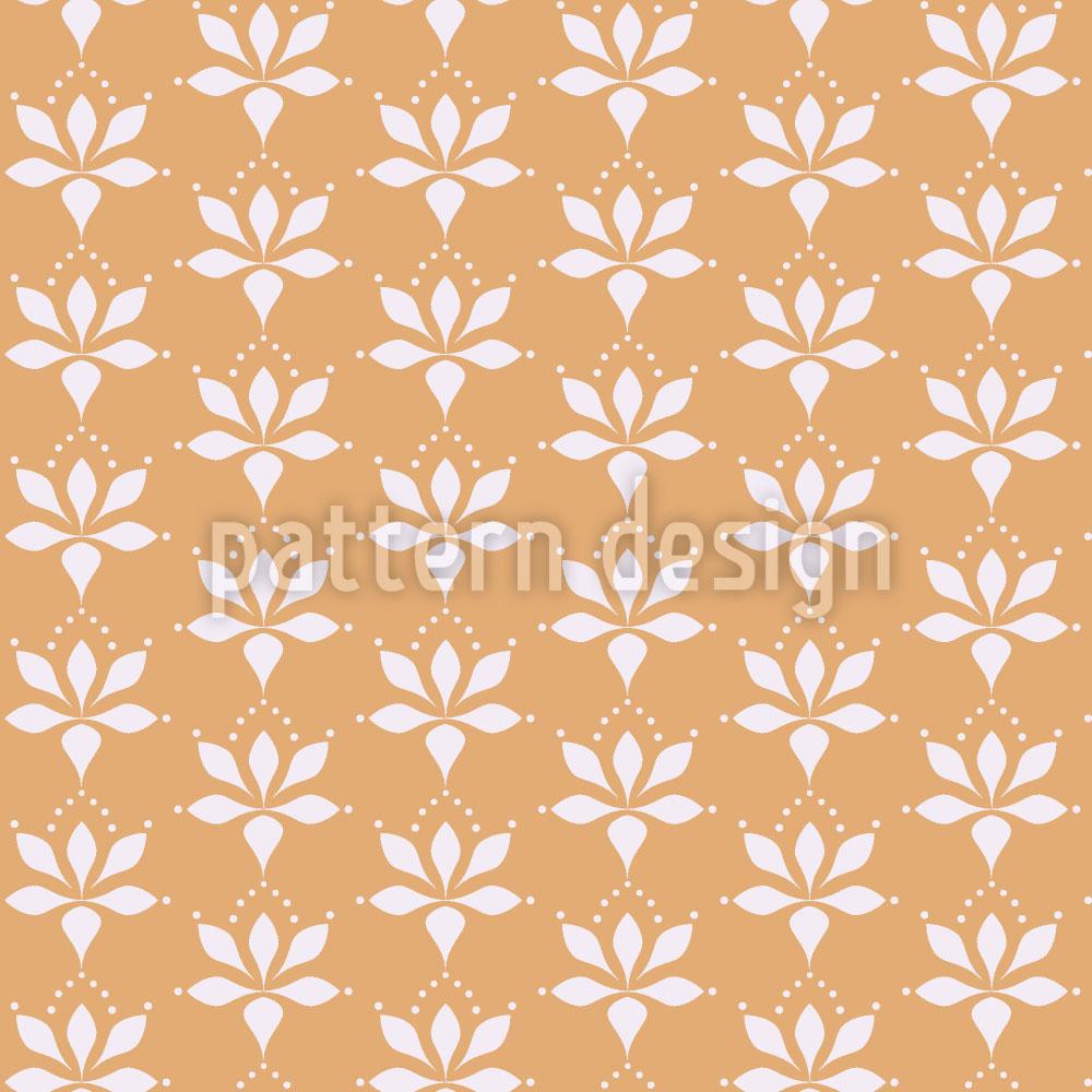 Designtapete Blossom Drops Chamois