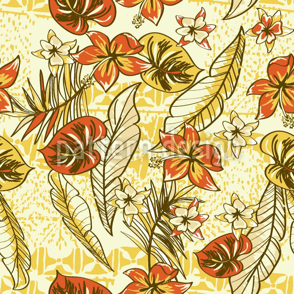 Designtapete Vintage Hawaii