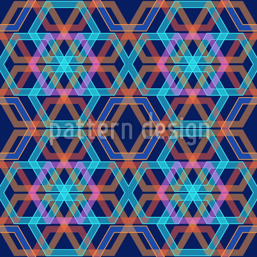 Designtapete Hexagonia Azur