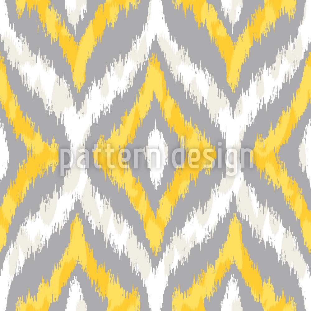 Designtapete Animal Ikat