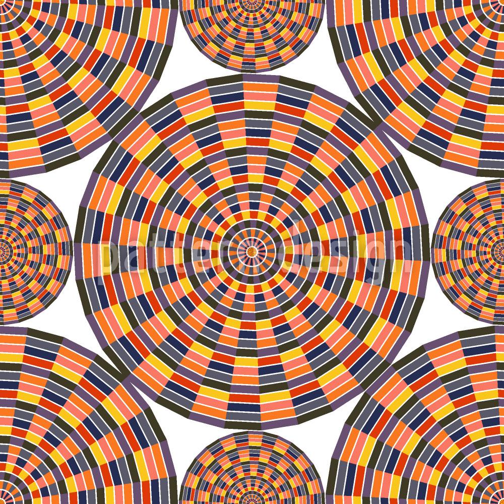 Designtapete Mexikanisches Mandala