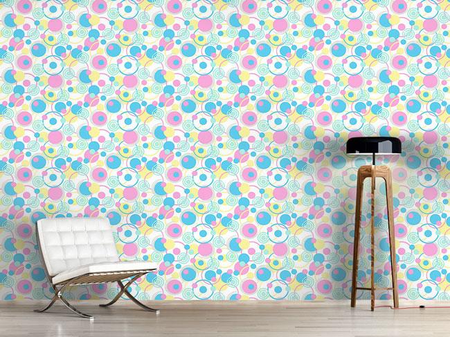 Designtapete Kreisträume In Pastell