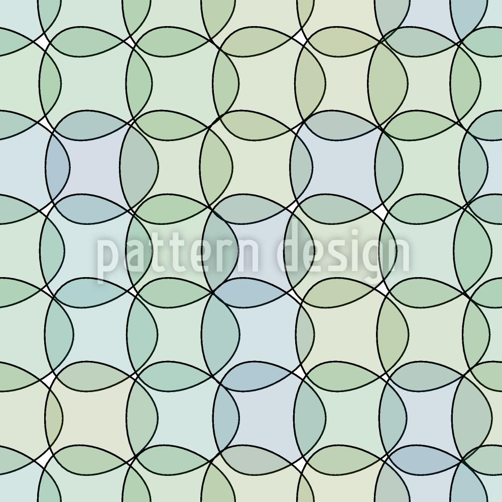 Designtapete Triangeln Im Wassergrün