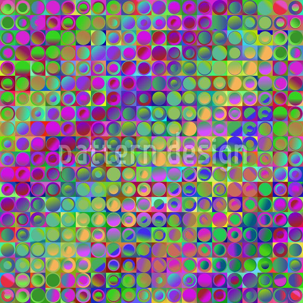 Designtapete Regenbogen Im Buntglas