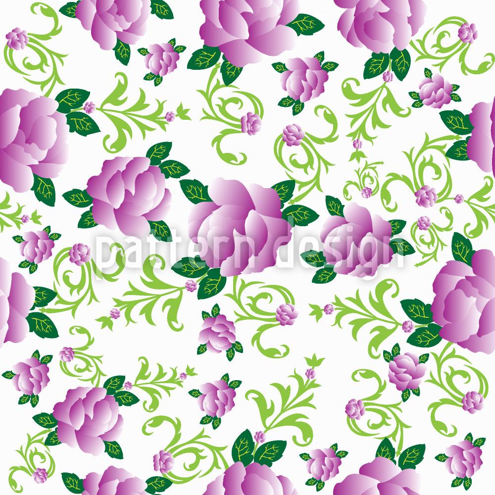 Designtapete Rosen In Violettas Garten