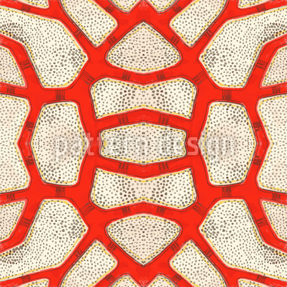 Designtapete Rote Koralle