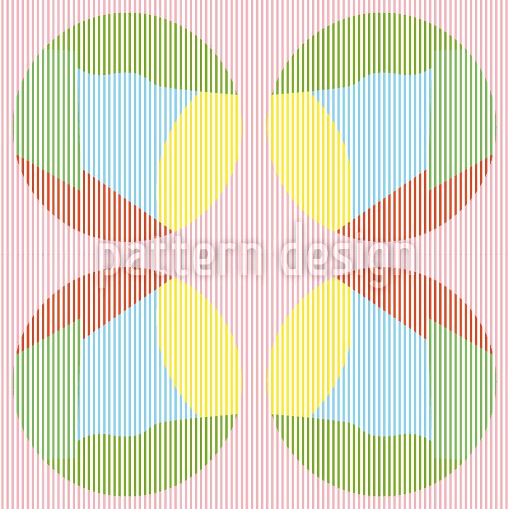 Designtapete Streifkreise In Pastell