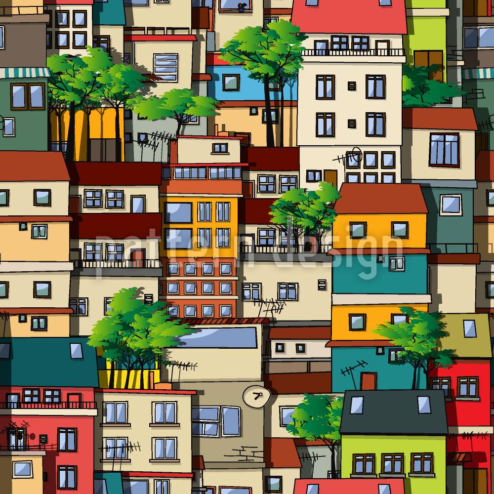 Designtapete Favela Brazil