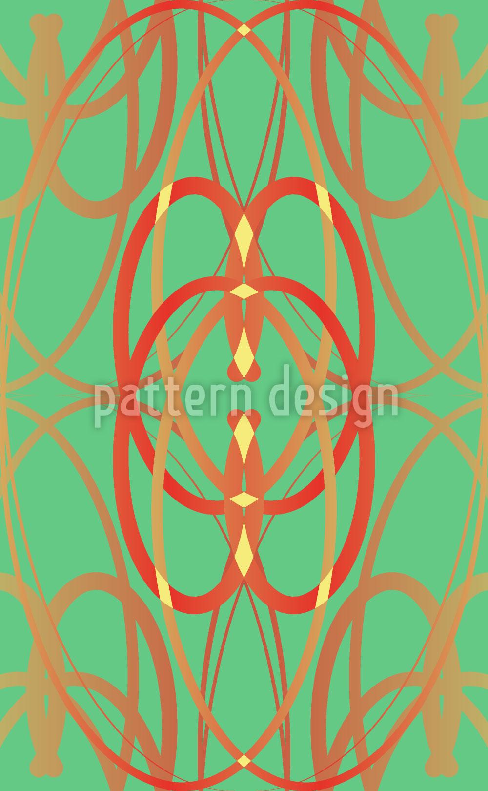Designtapete Art Nouveau Minze