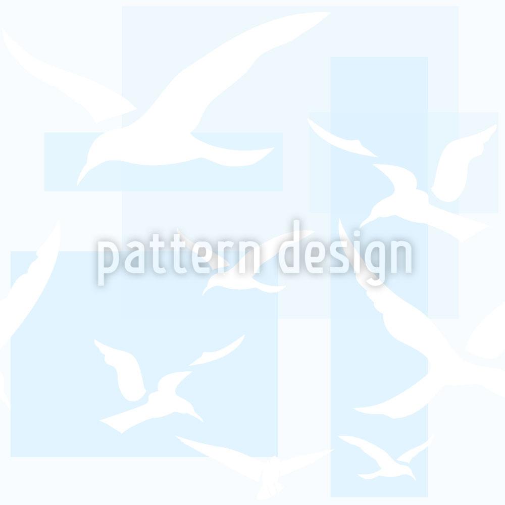 Designtapete Der Traumflug der Möwe
