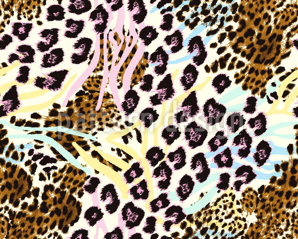 Designtapete Raubkatzen Wild Geworden