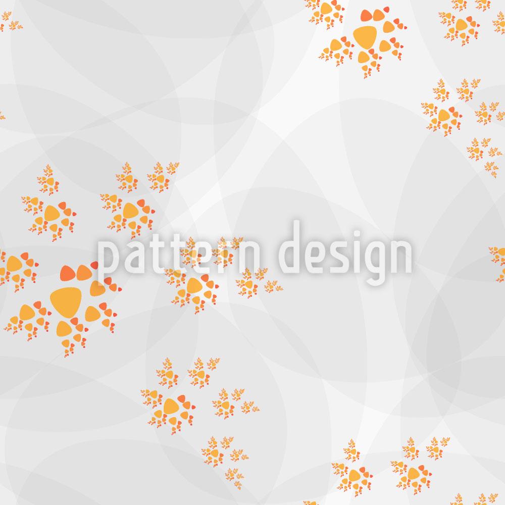 Designtapete Herbstlicher Spiralentanz