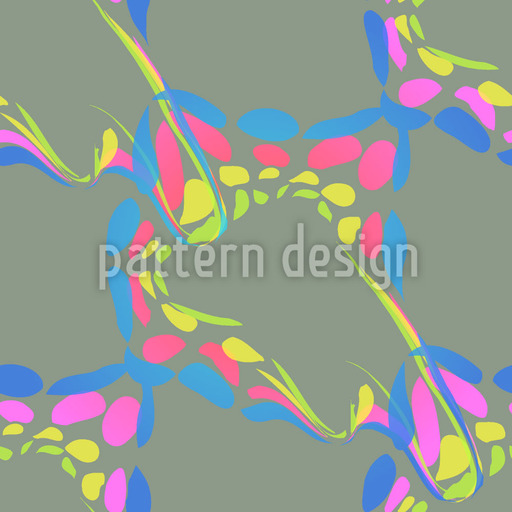 Designtapete Farbkleckse Auf Olivgrün