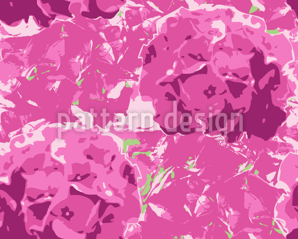 Designtapete Hortensia Pink
