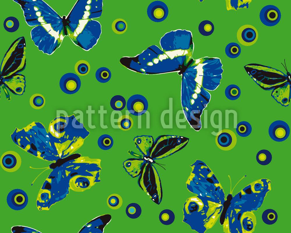 Designtapete Sphärische Schmetterlinge