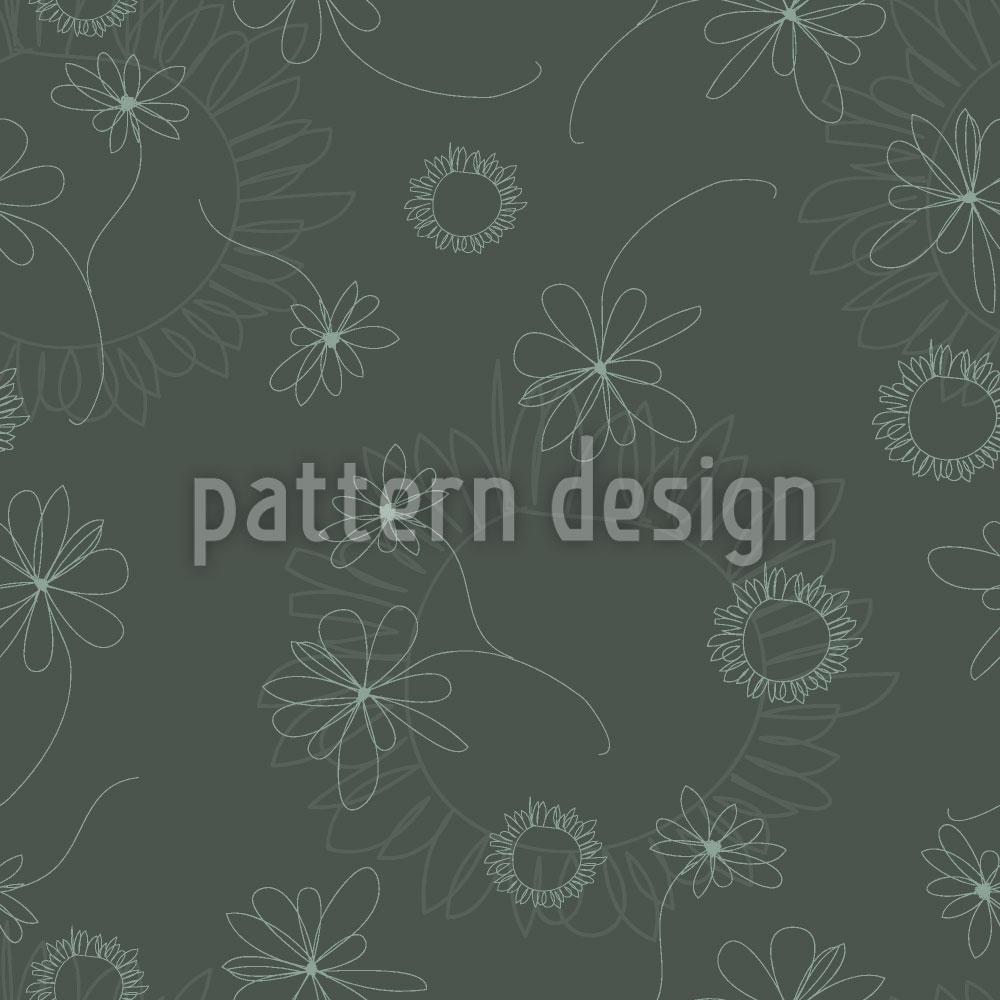 Designtapete Laura Zeichnet Blumen