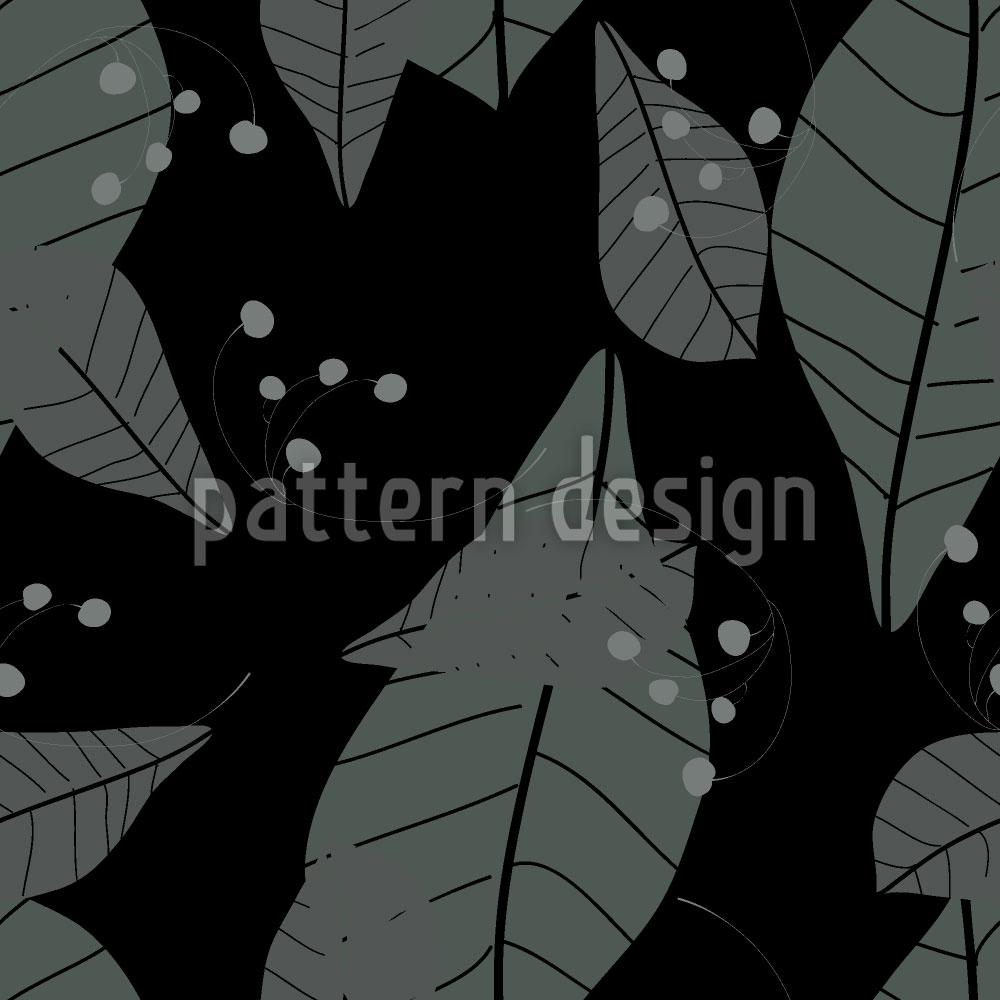 Designtapete Blätter Im Regen