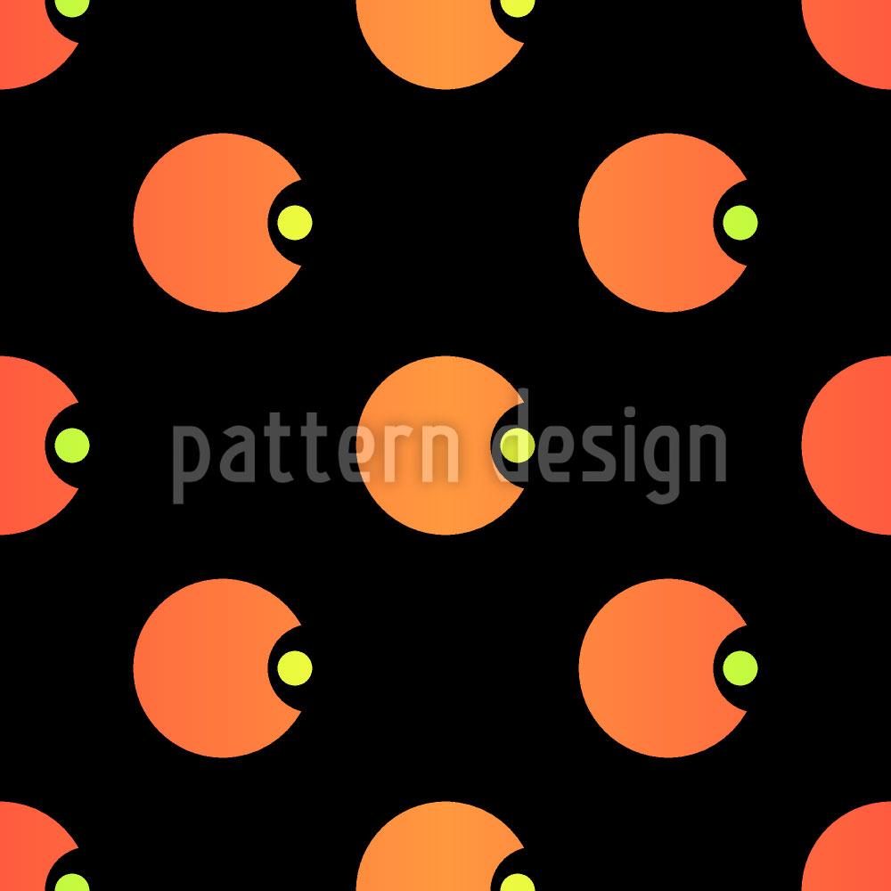 Designtapete Polka Pacman