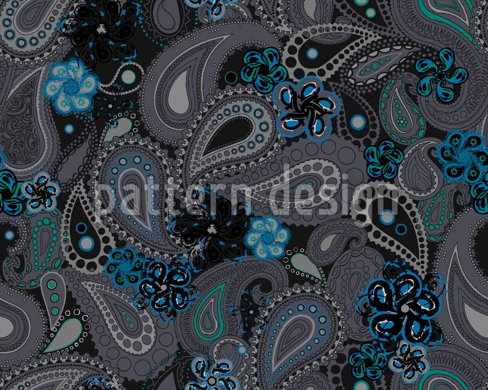 Designtapete Rusalka Träumt Nachts Von Paisley