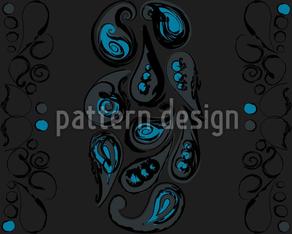 Designtapete Paisley Streifen