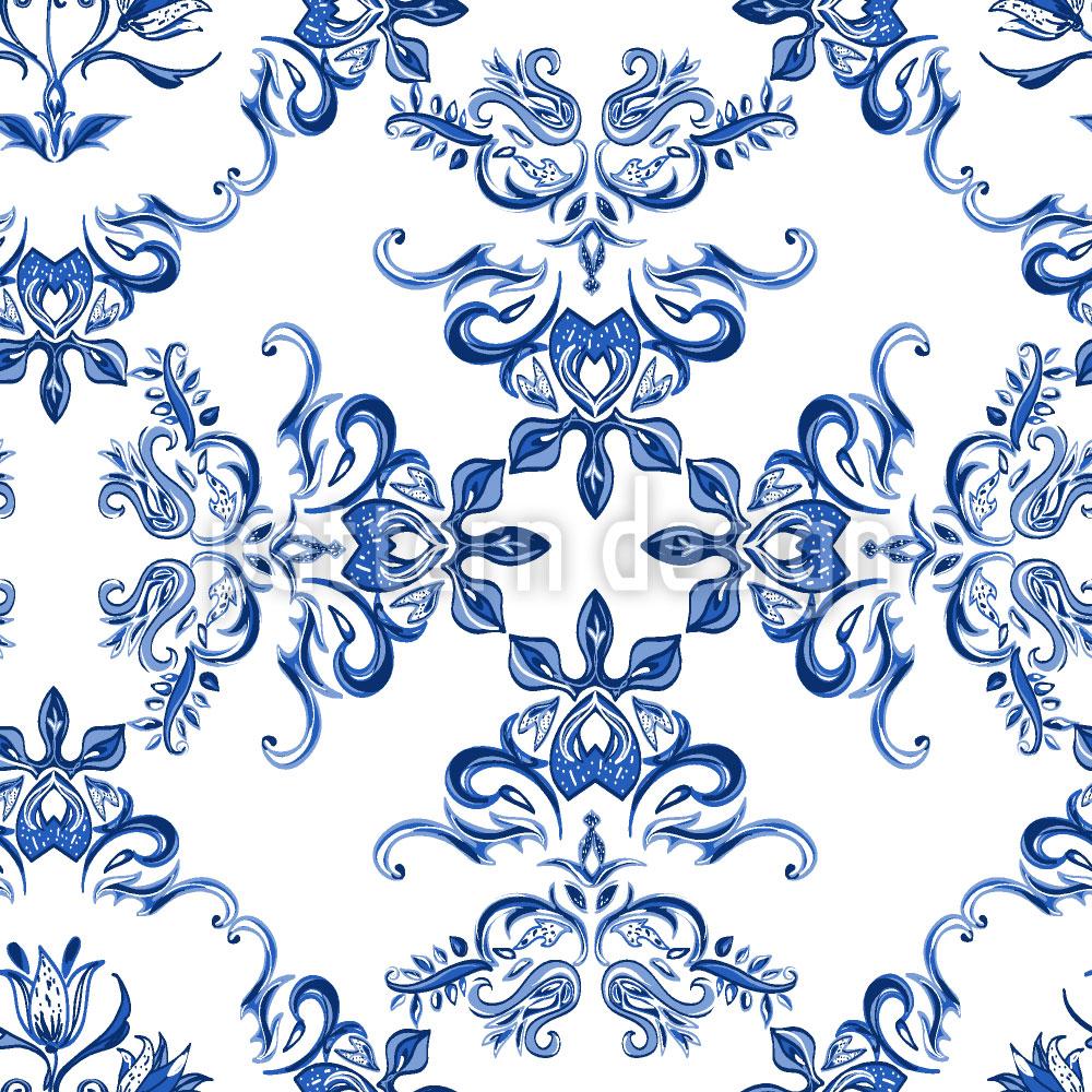 Designtapete Keramik Tulpen