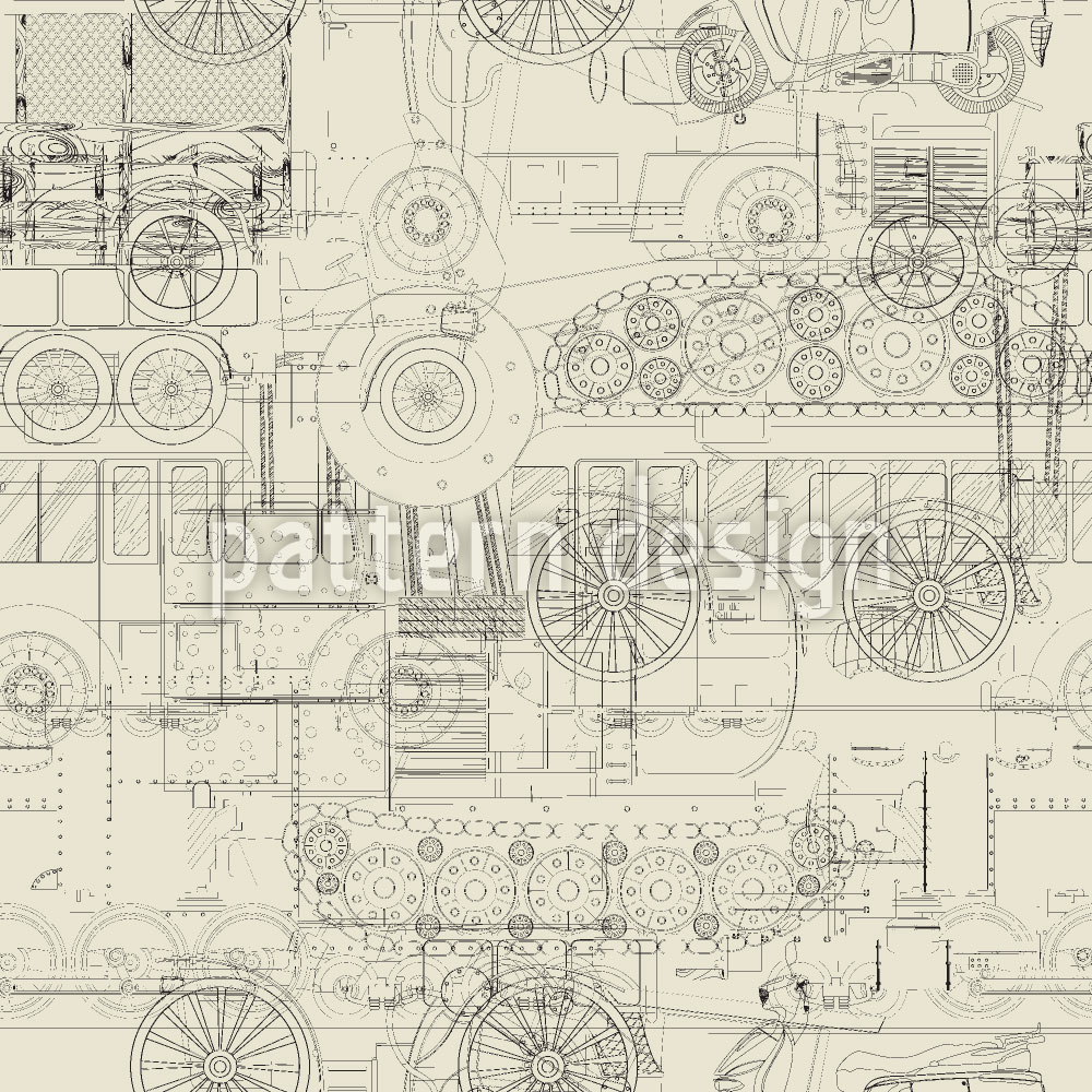 Designtapete Industrielle Revolution