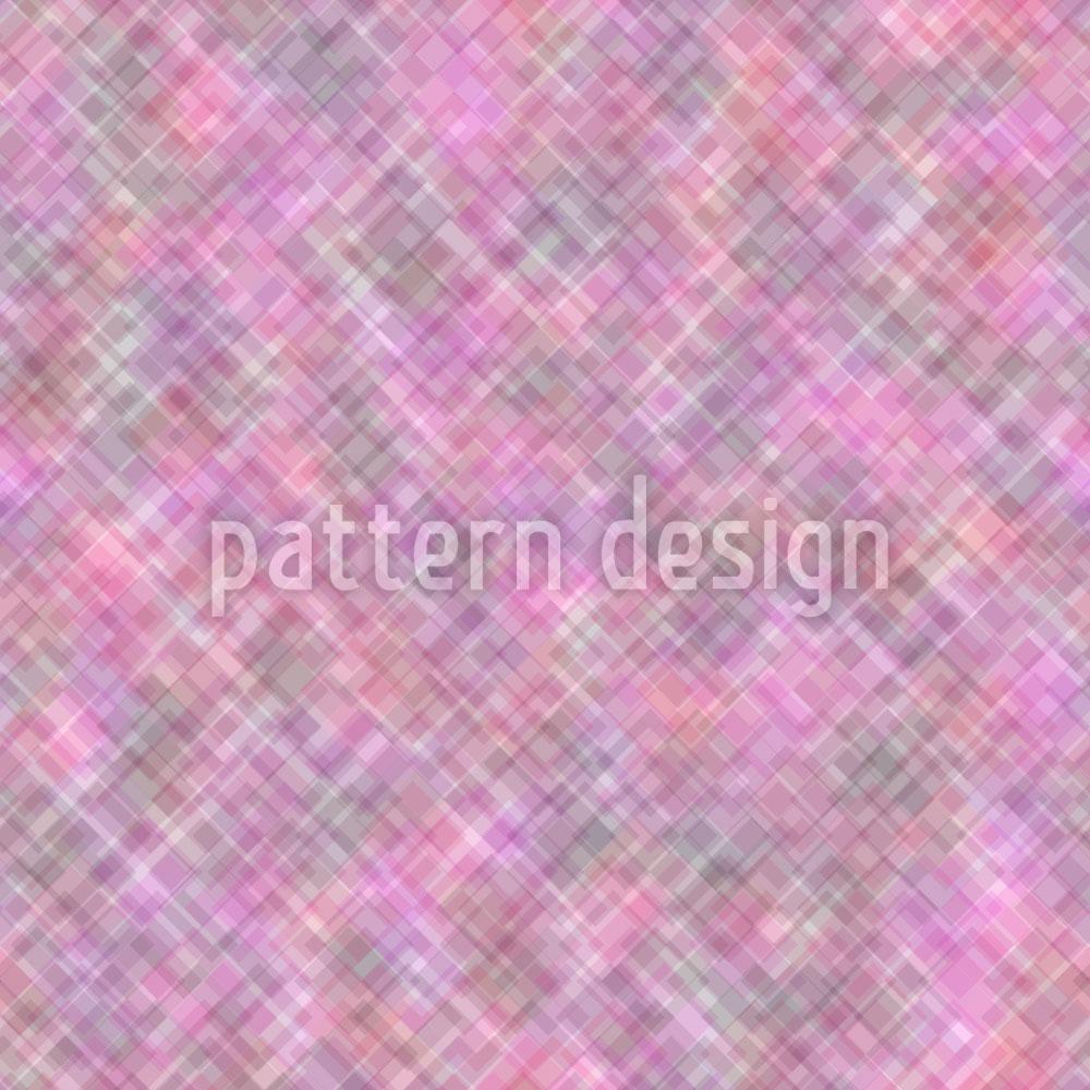 Designtapete Pinke Verwirrung Der Quadrate