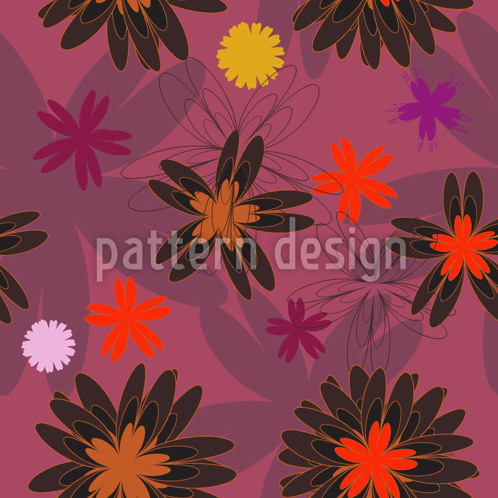 Designtapete Blumen Fantasie
