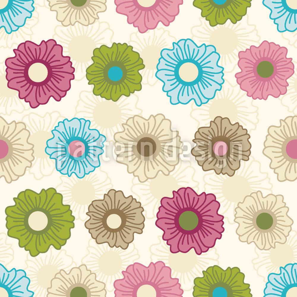Designtapete Endloses Blumenglück