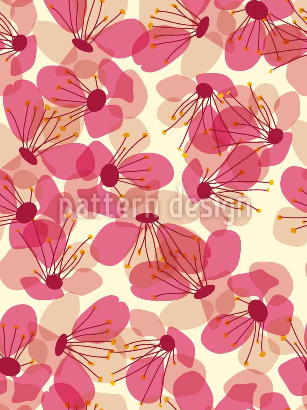 Designtapete Blütenregen Auf Der Veranda
