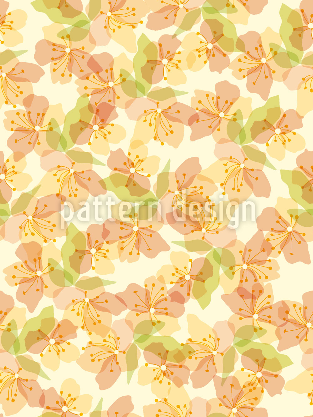 Designtapete Goldblümchen Auf Der Veranda