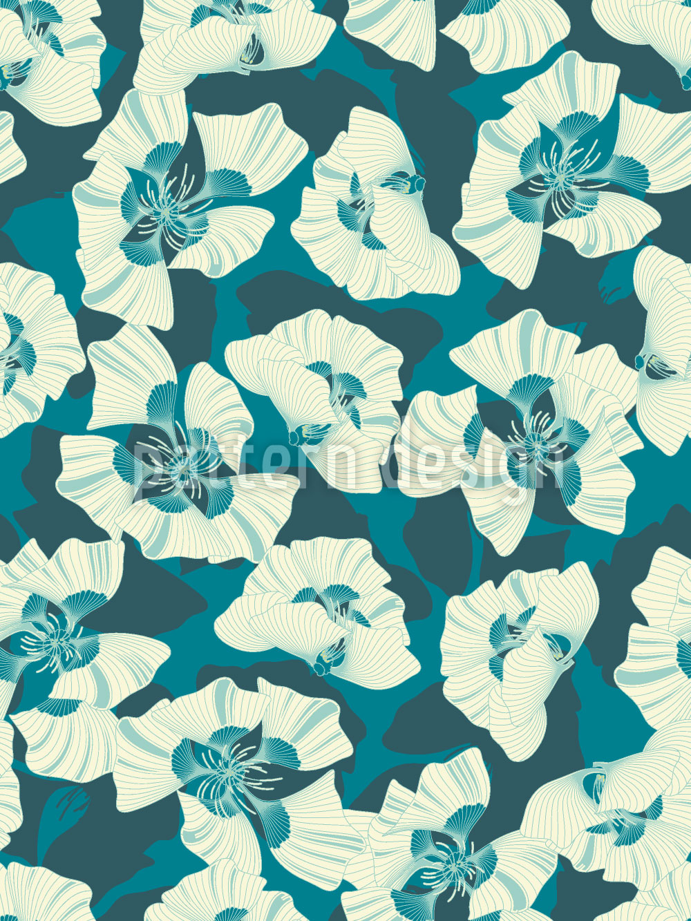 Designtapete Blumen Weit Weit Weg