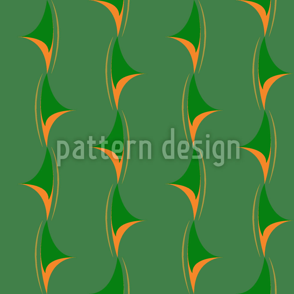 Designtapete Dornengrün