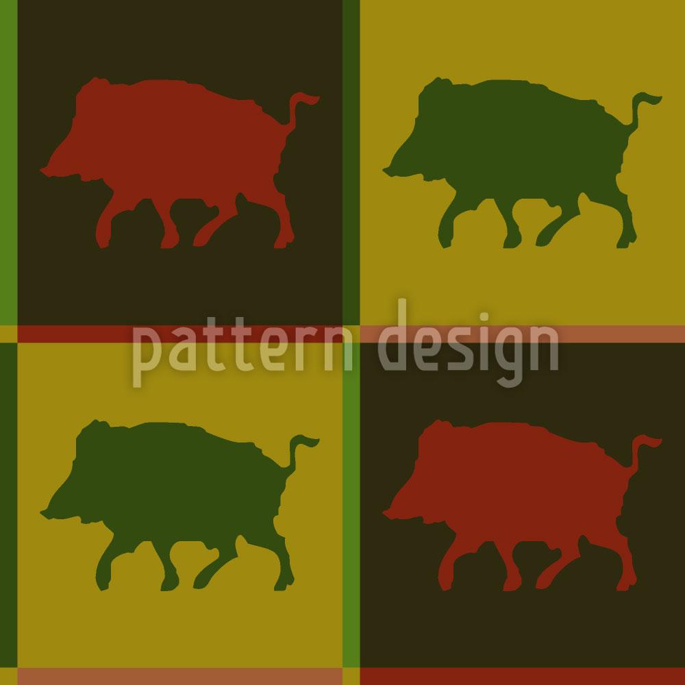 Designtapete Wildschweinrevier