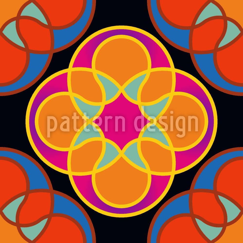 Designtapete Sunny Kaleidoskop