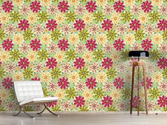 Designtapete Nur Blumen Lieben Bedingungslos