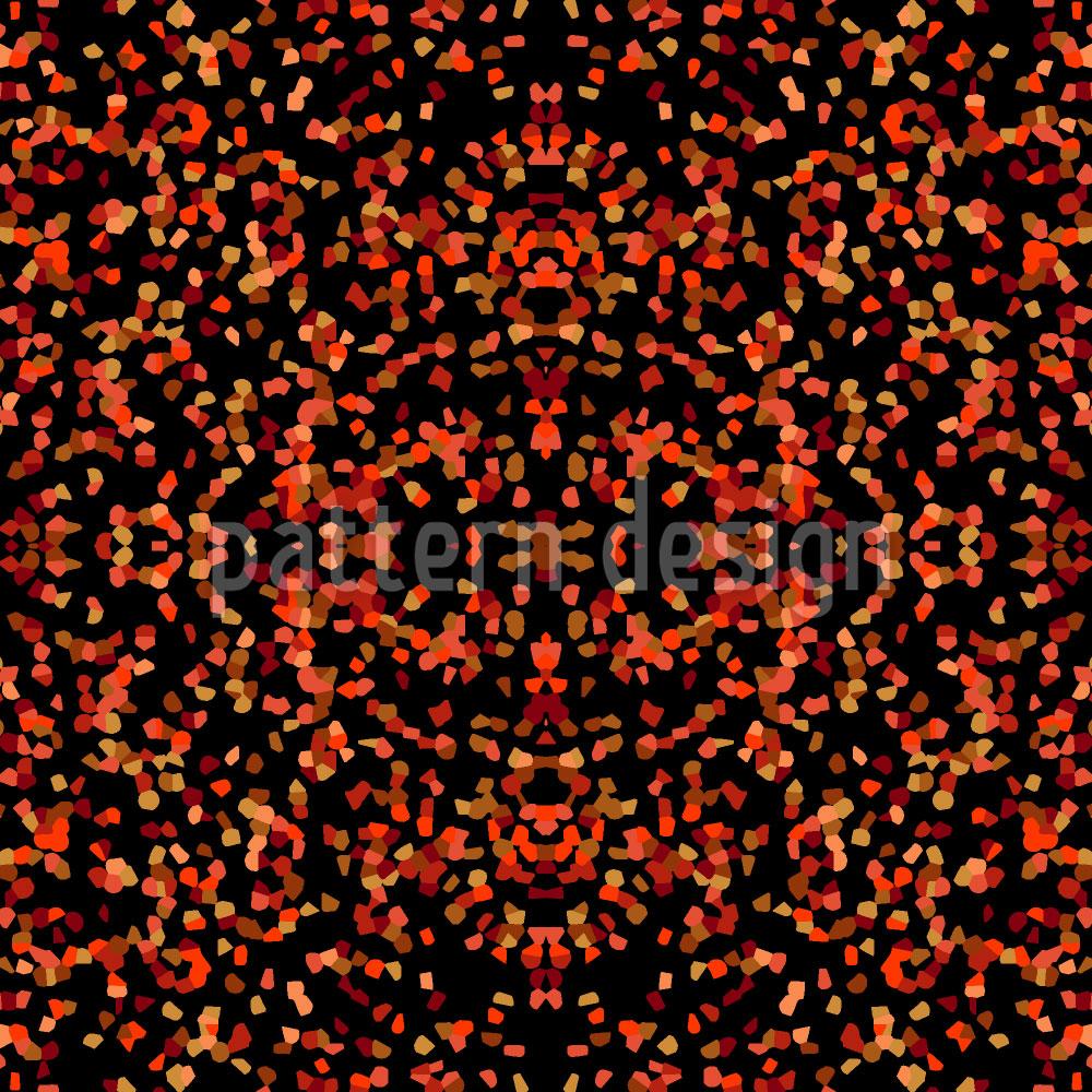 Designtapete Confetti Feuerfunken