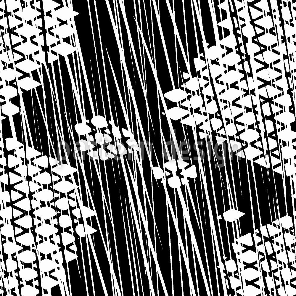 Designtapete Schnürlregen Auf Gitterkreuz