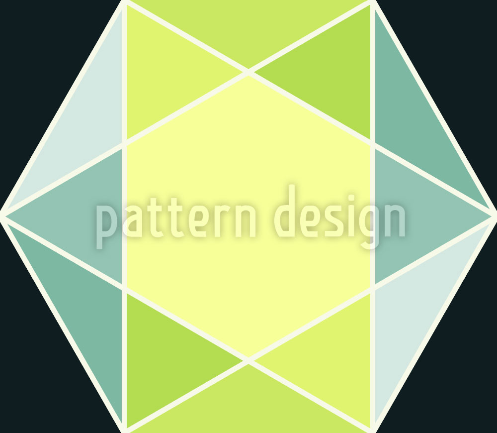 Designtapete Geometrischer Schliff