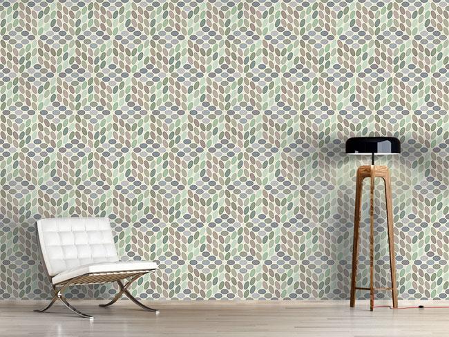 Designtapete Vintage Dots