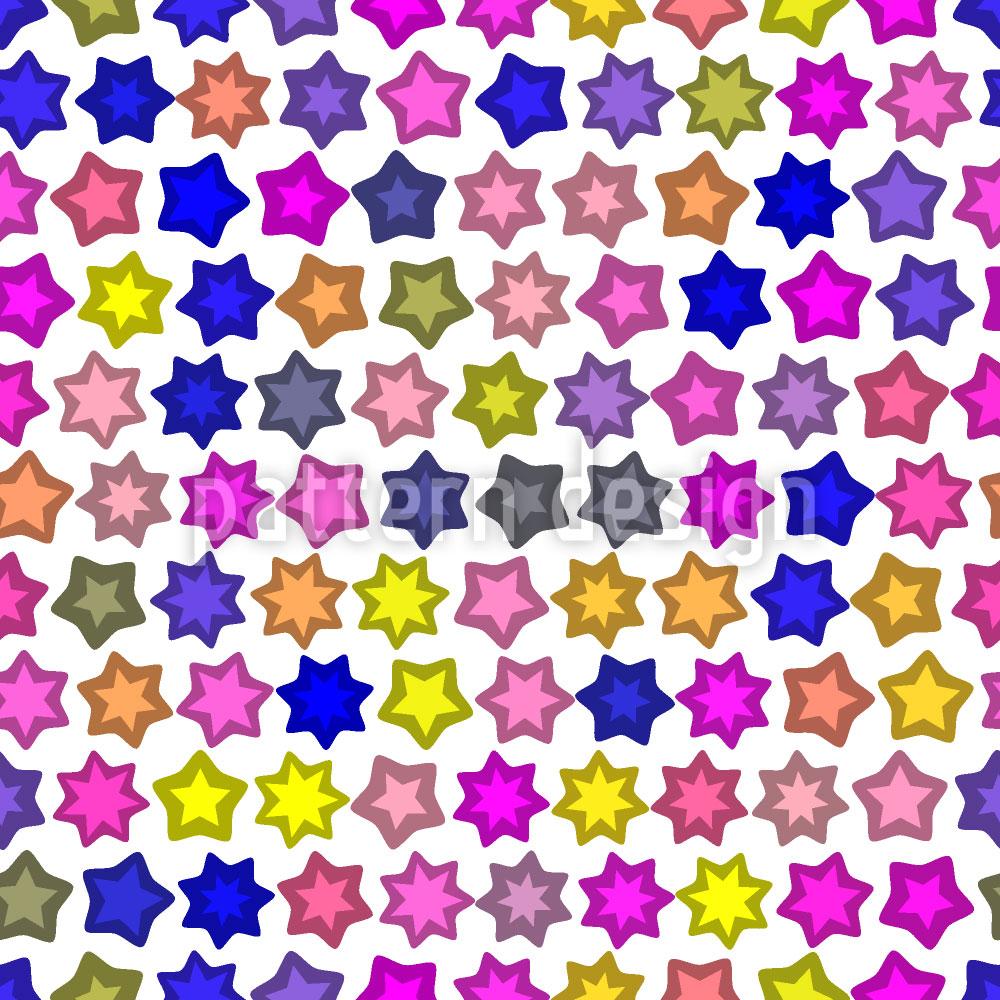 Designtapete Sternenparade Pink