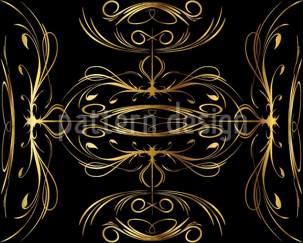 Designtapete Gesponnenes Gold