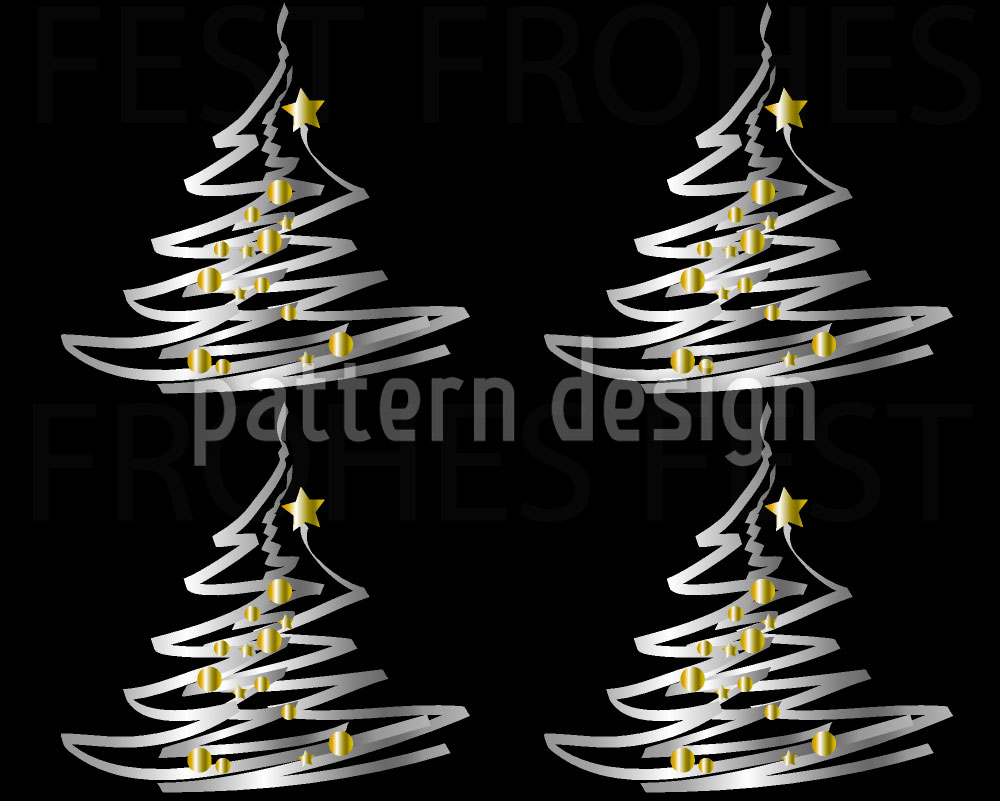 Designtapete Weihnachtsbaum Mit Goldbehang
