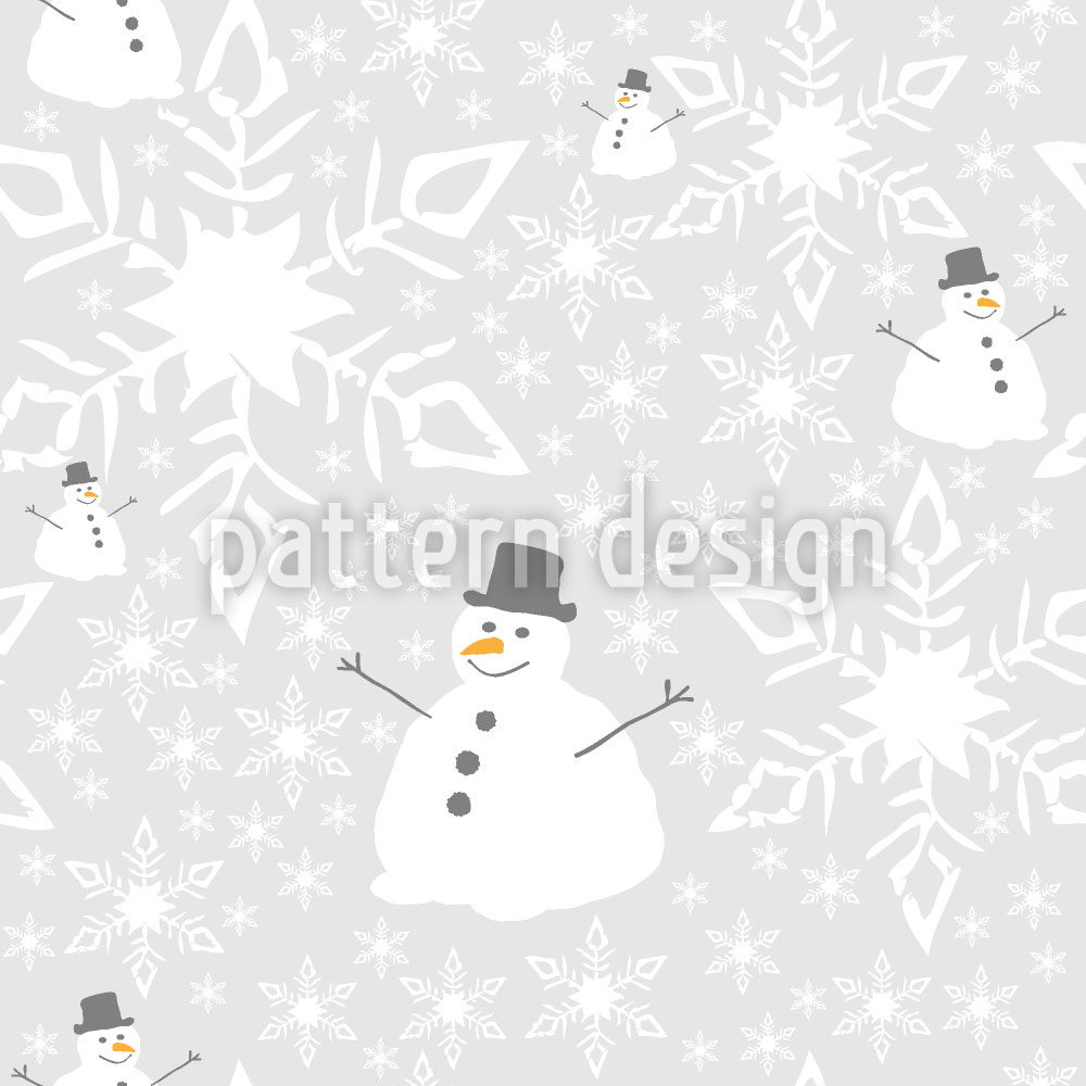Designtapete Let It Snow Man