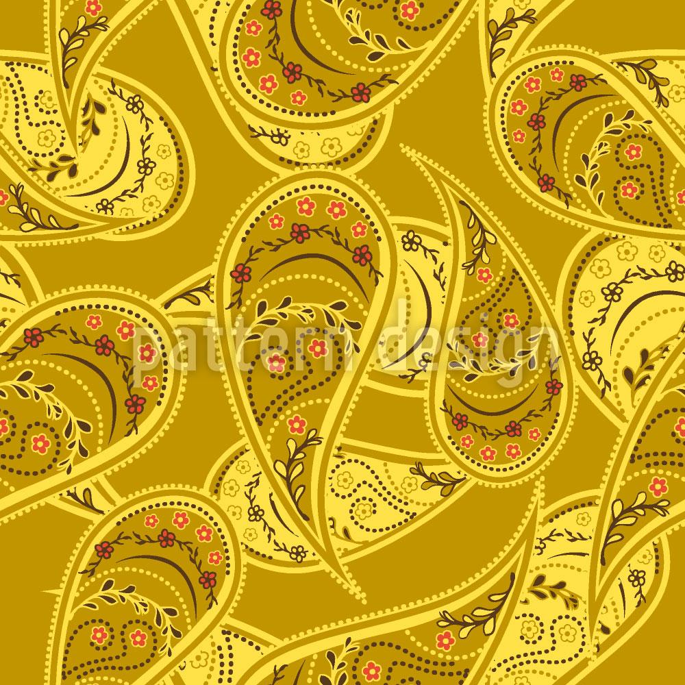 Designtapete Goldrausch Der Paisley